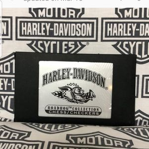 NWT Harley Davidson Roadhog travel chess/checkers